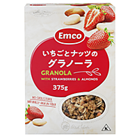 Emco Granola with Strawberries and Almonds